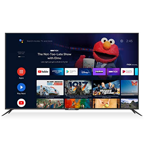 SANSUI 75 Inch 4K Smart TV Ultra HD Smart Android LED TV HDR with Dolby Sound Voice Remote, Built-in Google Assistant, Support Screen Cast (2020 Model 75'' TV)