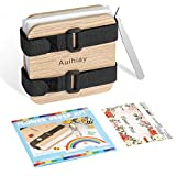 Auihiay Mini Flower Press Kit 4 X 4 Inch 3 Layers Leaf Pressing Include Instructions for Kids and Adults Handicrafts DIY Dried Pressed Flowers Resin Jewelry Pendant Crafts