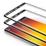 Bewahly Cristal Templado para Samsung Galaxy Note 8 [2 Piezas], 3D Curvado Completa Cobertura Protector Pantalla, 9H Dureza Alta Definicion Vidrio Templado Sin Burbujas para Samsung Note 8 (Negro)