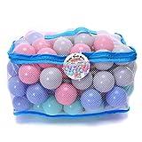 WonderPlay Kids' Ball Pits, Pack of 100 Phthalate Free BPA Free Crush Proof