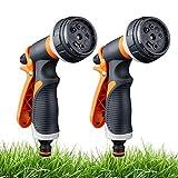 2 Pack Pistolet d'arrosage, Pistolet Arrosoir Avec 8 Modes d'Arrosage - Pulvérisateur à Main Haute...