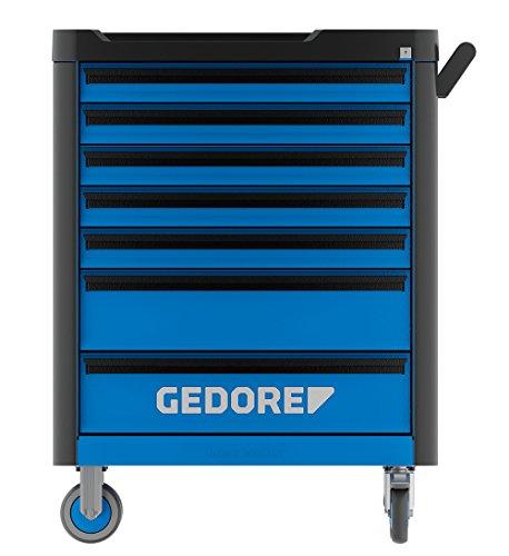 GEDORE WHL-L7 workster highline Werkzeugwagen unbestückt, blau – Rollbarer Werkstattwagen mit 7 Schubladen & Arbeitsplattform – 500 kg Tragkraft - 2