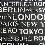Hule | Mantel Mesa Antimanchas | Mantel Mesa Comedor y Mesa Cocina PVC Impermeable, para Interior y Exterior Diseño Nombres Ciudades (100_x_140_cm)