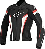 Alpinestars Stella Gp Plus R V2 - Chaqueta de piel para moto, color negro, blanco y rojo, talla 48