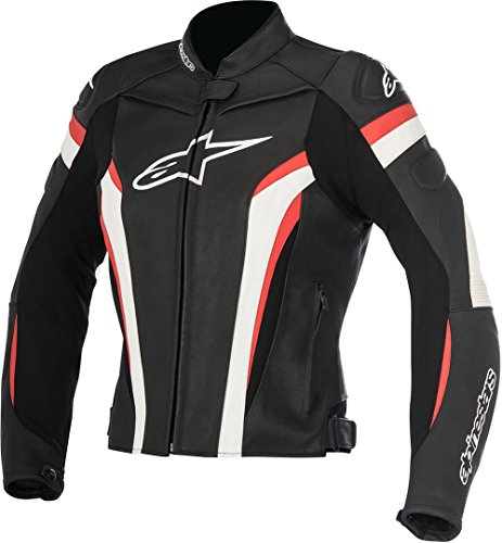 Alpinestars Motorradjacken Stella Gp Plus R V2 Leather Jacket Black White Red, Schwarz/Weiss/Rot, 48