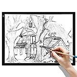BATHWA A3 almohadilla de luz LED panel de luz mesa de luz LED A3 almohadilla de dibujo brillo regulable con cable USB para pintar bocetos dibujos animados