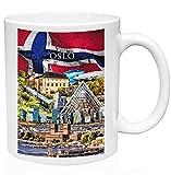 Oslo Norway Souvenir - Taza de café de cerámica de alta calidad