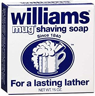 Shaving Soap Mug 1.75 oz By Williams For a Lasting Lather (Pack of 6)