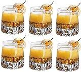 YYhkeby 6 PCS Copa de Whisky de Cristal Engrosada de Cristal - Premium 11 Oz Crystal Whisky Glass Rock Rock Style Scottish Tasting Tumbler Bourbo...