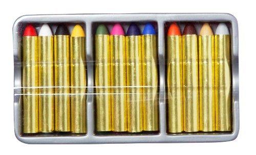 Anniversaire Kermesse - 12 Crayons Maquillage pour Enfants - Lavable à l'Eau