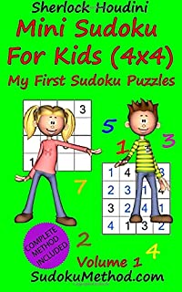 Mini Sudoku For Kids (4x4) - My First Sudoku Puzzles - Volume 1