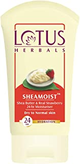 Lotus Herbal Shea Butter and Real Strawberry 24 Hour Moisturiser, 60g