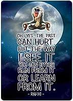 屋外のためのパーソナライズされた金属看板瞑想ムーンメタルポスタープラーク警告サイン鉄絵画アート装飾バーカフェガーデン寝室オフィスホテル
