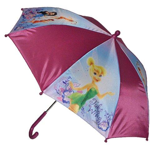 alles-meine.de GmbH Regenschirm Disney Fairies Tinkerbell - Kinderschirm 56 cm lang - für Kinder Stockschirm Schirm - Mädchen Schirm Fairy Feen Kinderregenschirm