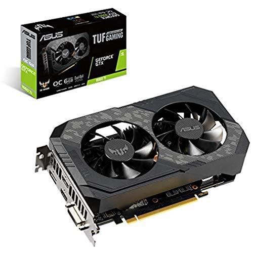 Asus TUF-GTX1660TI-O6G-GAMING GeForce GTX 1660 Ti 6 Go GDDR6 - Cartes Graphiques (GeForce GTX 1660 Ti, 6 Go, GDDR6, 192 Bit, 7680 x 4320 Pixels, PCI Express 3.0)