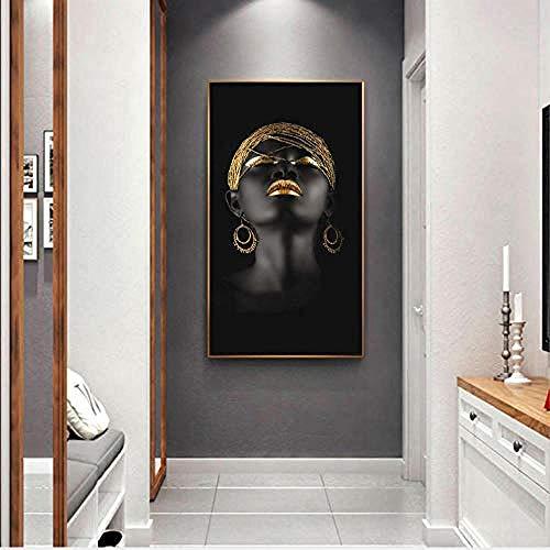 sanjiiNG Pinturas al óleo de mujeres negras Impresiones del arte de la...