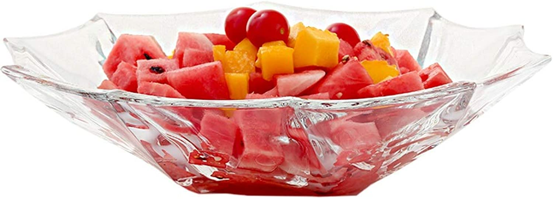 WUYAO Coupes de Fruits en Verre, Corbeille de Fruits Grande capacité créative, Assiette de Plat de Fruits européen en Forme de Fruits et de Sucre, présentoir de Fruits