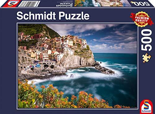 Schmidt Spiele Puzzle 58363 Manorola, Cinque Terre, Italien, 500 Teile Puzzle, bunt