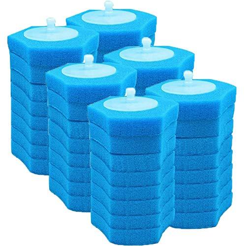 Uniquk Sistema di Pulizia della Toilette USA e Getta Ricarica Lavabile per WC USA e Getta Ricariche Lavabili con Spazzola Fresca - 48 Ricariche