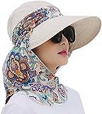 iHomey Roll Up Wide Brim Sun Visor UPF 50+ Protección UV Sun Hat con Protector de Cuello