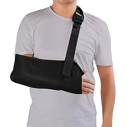Armschlinge, Halt verstellbar Schutz Unterstützung für bewegungsunfähig und Stabilisieren den Arm verletzt und den Druck zu reduzieren Schulterstativ, armschlinge ellbogen bandage handgelenk bandagen