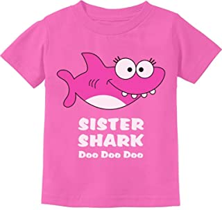 Sister Shark Doo Doo Gift for Big Sister Toddler Kids T-Shirt