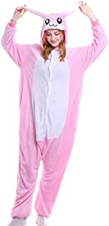 Animal Onesies Adult Rabbit Bunny Costumes One Piece Pajamas for Men Women Unisex Teens