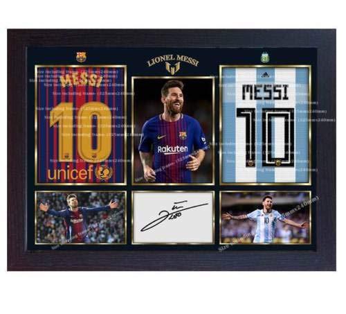 SGH SERVICES Gerahmter Rahmen 2018 Lionel Messi Argentinien National Barcelona Football Signiert Fanartikel MDF-Rahmen
