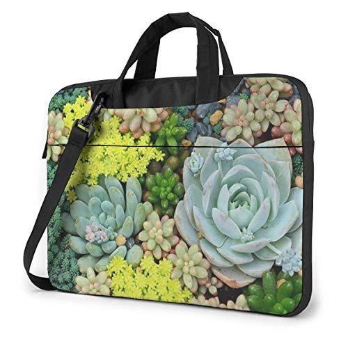 Succulent Plant Potting Laptop Sleeve Case 13 Inch Computer Tote Bag Shoulder Messenger Briefcase for Business Travel