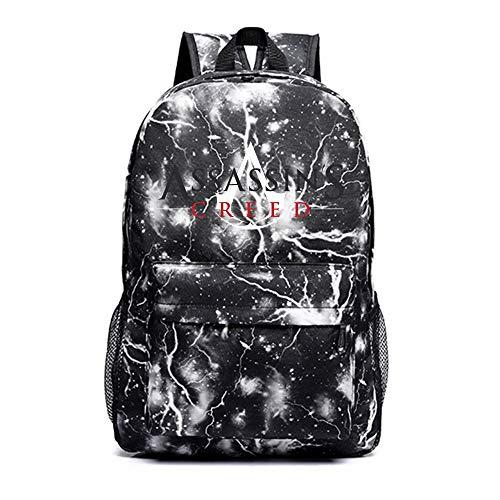 Assassin's Creed Rucksäcke Rucksack Daypack Schoolbag Trekking-Rucksack Mann und Frauen Trend Fashion Students Wild Style Wandern Tasche Unisex (Color : Black29, Size : 45 X 30 X 14cm)