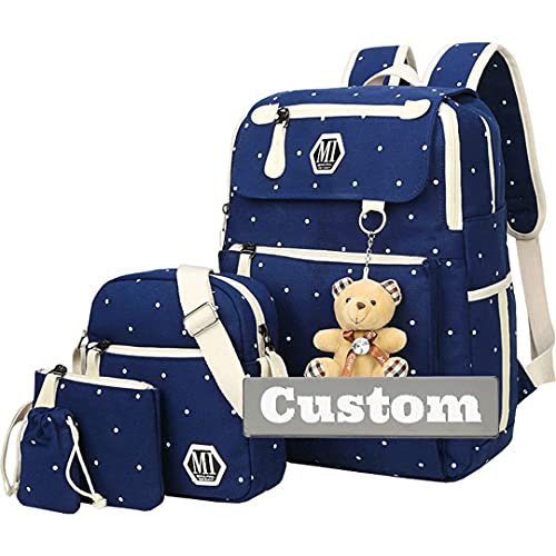 Nombre Personalizado Mochila Amarilla Mujeres Casual Daypack para Hombres Ultralight Lindo Mini para niño (Color : Shenlanse, Size : One Size)