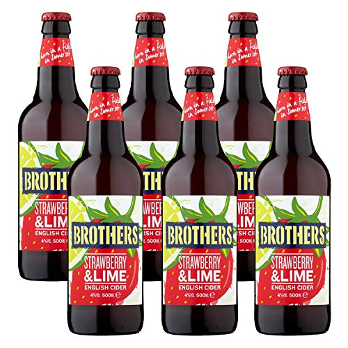 Brothers Strawberry&Lime 6 x 500ml