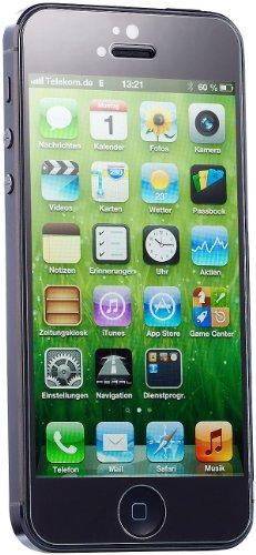 Somikon Schutzfolie kompatibel zu iPhone 5s: Displayschutz für kompatibel zu iPhone 5/5c/5s/SE gehärtetes Echtglas, 9H (Folie kompatibel zu iPhone 5)