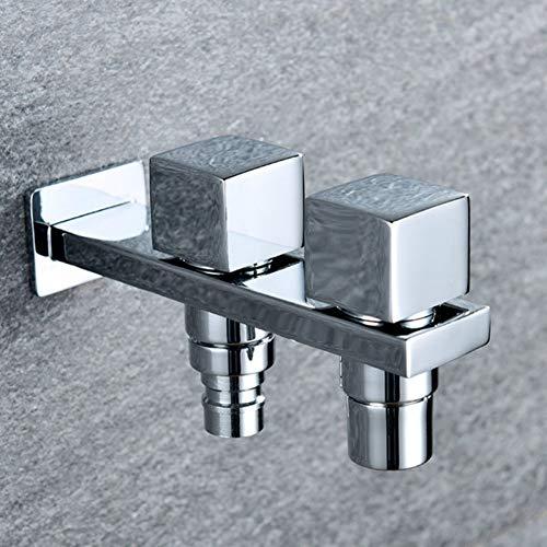 1/2 Einlass quadratisch Kupfer Waschmaschine Wasserhahn schnell Mundwasser kleiner Wasserhahn Dual-Use-Kaltwasserhahn Outdoor-Spüle