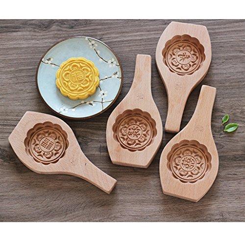 FLAMEER Chinesische Stil Mooncake DIY Keks Kuchen Blume Form - lu, 22cm*11cm*2cm