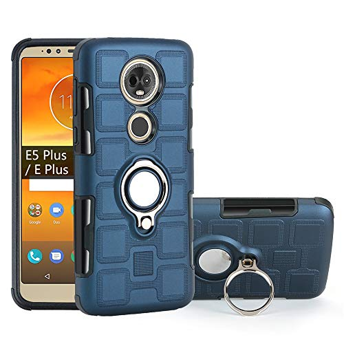 stilluxy Moto E5 Plus Hülle Motorola e5Plus mit Kickstand Cover Motoe5plus Phone Hülles Finger Ring Dual Layer Rugged Hybrid [TPU + PC] Motorolae5plus Schutzhülle Bumper 6 Zoll (15,2 cm) (Königsblau)