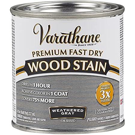 1/2 pt Rust-Oleum 269398 Weathered Gray Varathane Premium Fast Dry Wood Stain Pack of 1