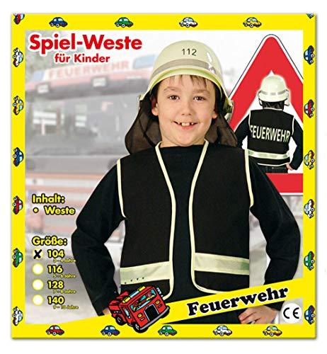 Party-Chic 15524 Kinder Kostüm-Feuerwehr-Weste-Gr. 104