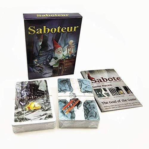 Board Game Card Dwarf Gold Mine Saboteur Gioco da tavolo con guida