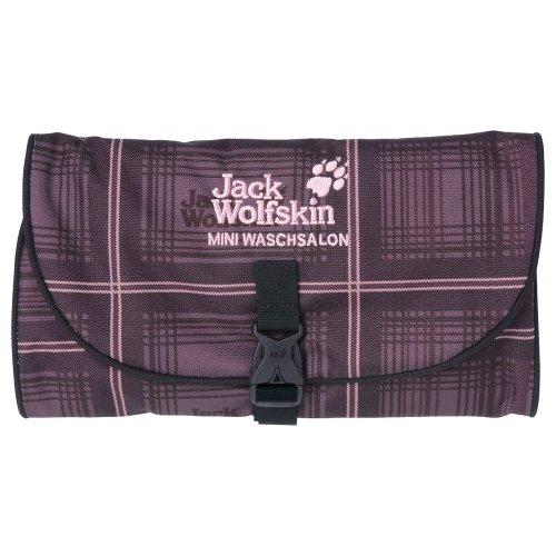 Jack Wolfskin Unisex Kulturbeutel Mini Waschsalon, dark blueberry checks, 26 x 15 x 3cm, 0,70 litre, 86150