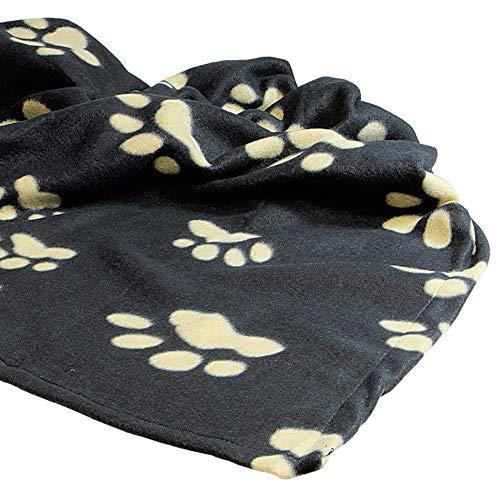 Trixie 37182 Fleecedecke Barney, 150 × 100 cm, schwarz/beige