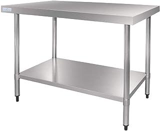 Vogue Table en acier inoxydable 900 x 1500 x 700 mm