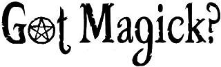 Wwwx 2pcs GOT Magick? Stylish Pentagram Car Styling Decals Car Body Stickers Accessories Black 16.5 * 5.1CM