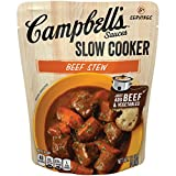Campbell's Slow Cooker Sauces Beef Stew, 12 oz. Pouch (Pack of 6)