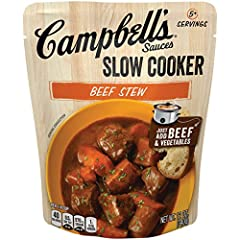 Rich sauce flavored with tomatoes, Burgundy wine, and shiitake mushrooms to pour over chunks of beef and let your slow cooker transform it into beef stew 12 oz. pouch makes about 5 servings No artificial flavors Delicious served with a loaf of your f...