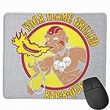 Tapis de Souris Street Fighter Dhalsim Yoga Flame Grilled BBQ Desk Mousepad 11.8x9.8 inch Base antidérapante en Caoutchouc, Tapis de Clavier pour Ordinateur/Ordinateur Portable