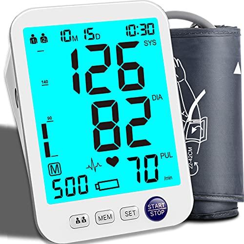 Blood Pressure Monitor Upper Arm Large LED Backlit Screen 1000 Sets...
