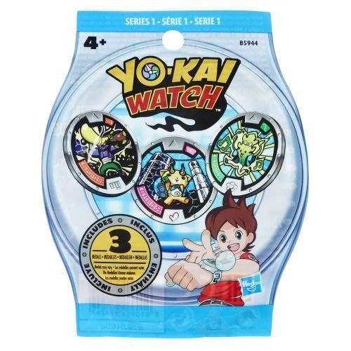 Yo-kai Watch 1 Sobre con 3 medallas sorpresa cada uno, Multi