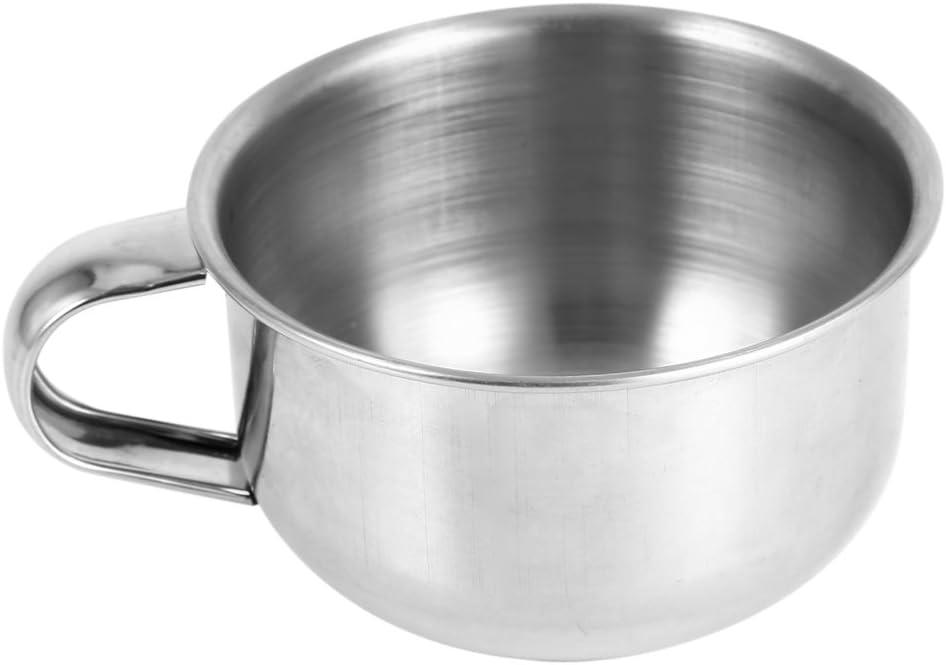 Zaraddia Shaving Bowl New Stainless depot Metal 5% OFF Soap Steel Mug