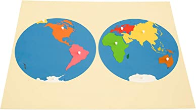 MONTESSORI OUTLET Puzzle Map of World Parts